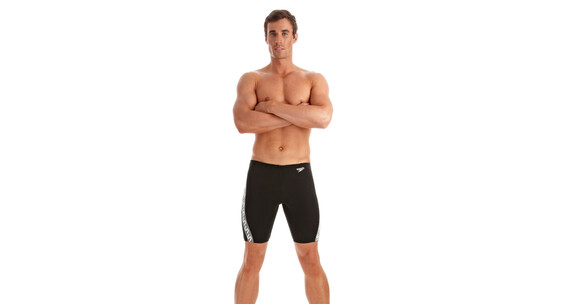 speedo Monogram Endurance+ Jammer Men black/white